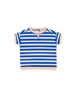 카라멜 Balham Baby T Shirt_Blue Stripe
