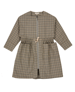 카라멜 Paddington Dress_Check Grey