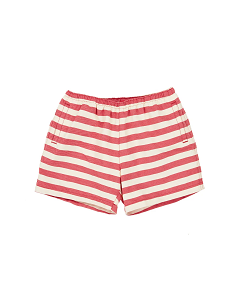 카라멜 BROCKWELL SWIM SHORT_RED CREAM STRIPE