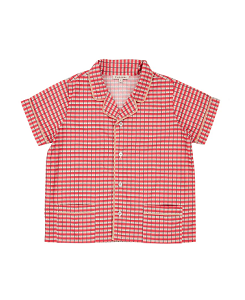 카라멜 HOLBORN SHIRT_RED PAINTED CHECK