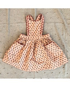 카라멜 GOOSE PINAFORE_PEACH SMALL FLORAL