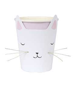 메리메리  Cat with Whiskers Party Cups(8개 1셋트)
