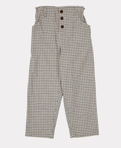 카라멜 VULTURE TROUSERS-ECRU CHECK