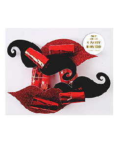 메리메리  Moustache & Lips Party Blowers