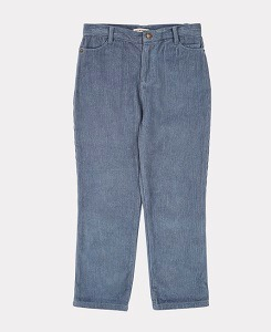 카라멜 CROW TROUSERS-STEEL BLUE CORD
