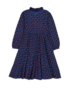 헬로시모네 Mirabelle Cotton Muslin Long Dress Navy blue