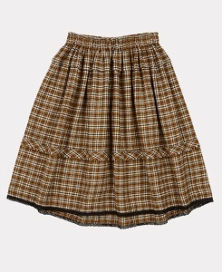 카라멜 WAGTAIL SKIRT-YELLOW CHECK