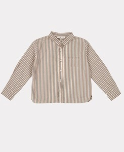 카라멜 STINT SHIRT-BROWN STRIPE