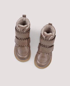 쁘띠노드 Scallop Winter Boot – Taupe