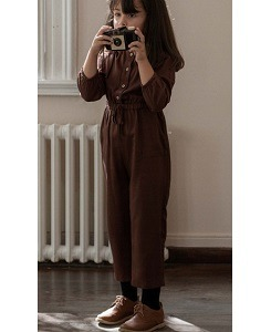 미니맘 Olivia Overalls - Chocolate Brown