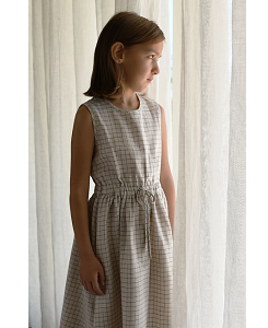 미니맘 Sienna Dress - Natural Checked