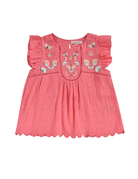 루이스미샤 Carmen Blouse-Raspberry