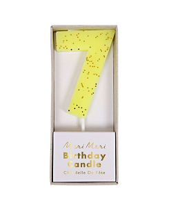 메리메리 Yellow Number 7 Candle