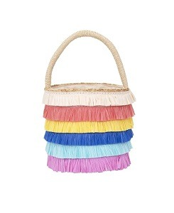 메리메리 Raffia Fringed Woven Straw Bag