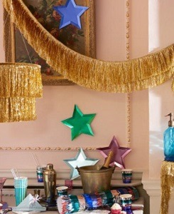 메리메리 Gold Tinsel Fringe Garland