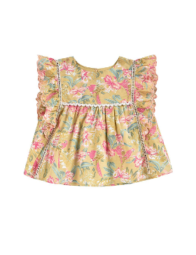 루이스미샤 Serena Blouse-Soft Honey Parrots