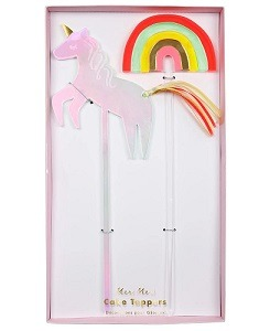 메리메리 Unicorn & Rainbow Cake Toppers
