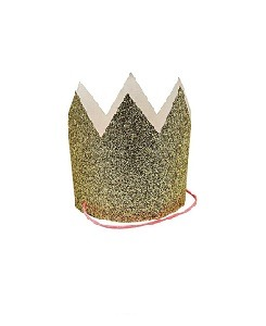 메리메리 Mini Gold Glittered Crowns