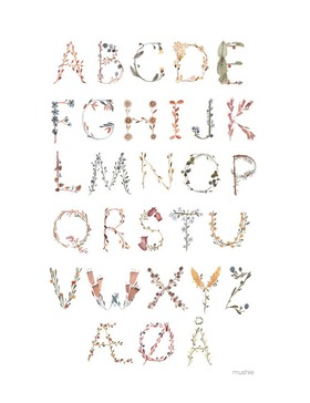 Mushie Poster Large Alphabet Danish