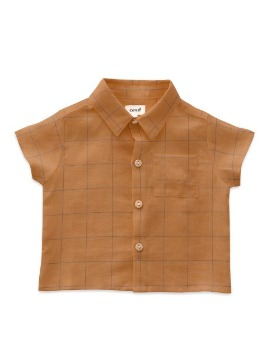 [OEUF] button down shirt (doe)