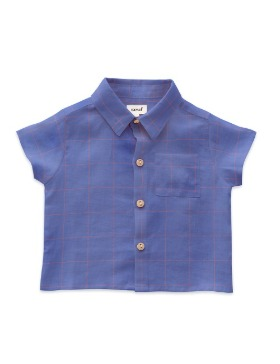 [OEUF] button down shirt (iris)