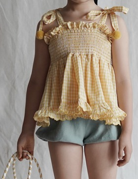[MES KIDS DES FLEREUS] plaid top (yellow)