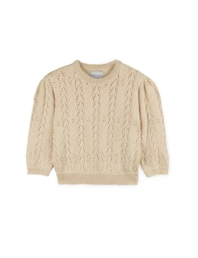 [MIPOUNET] COTTON OPENWORK SWEAT (CREAM)