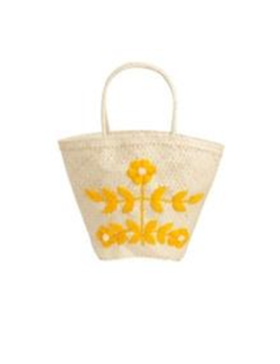 Embroidered Basket (marigold /white)