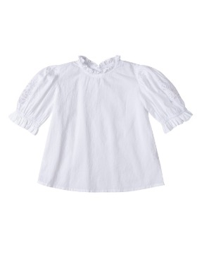 [pre-order] Hana Top (white / white cut lace embroidery)