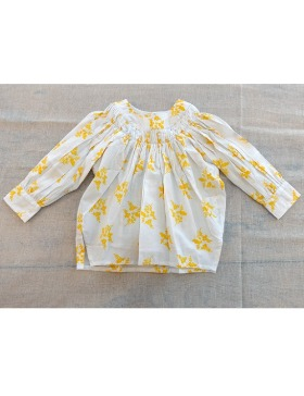 [pre-order] Alana top (Posie white yellow)