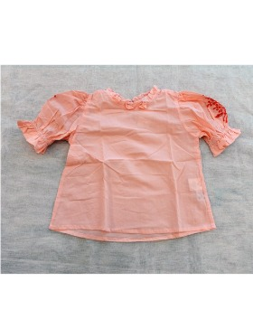 [Kidsagogo] Hana Top (Guava/ red cut lace embroidery)