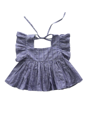 [MES KIDS DES FLEREUS] butterfly sleeve top (blue) 블라우스